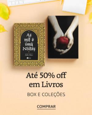Book Friday Amazon: 50% OFF em Box e Coleções de Livros