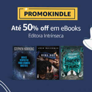 Book Friday Amazon: 50% OFF em Ebooks da Editora Intrínseca