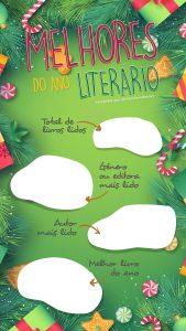 TEMPLANTE PARA INSTAGRAM STORY | MELHORES DO ANO LITERÁRIO | THEREVIEWBOOKS.COM.BR