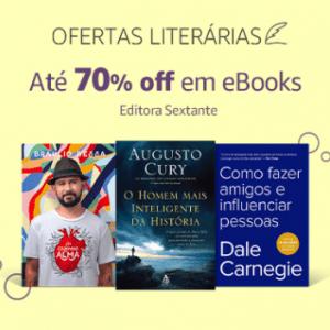 Ofertas Literárias: até 70% off em eBooks Editora Sextante