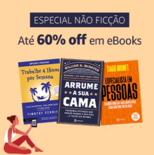 Especial Não Ficção: até 60% off em eBooks